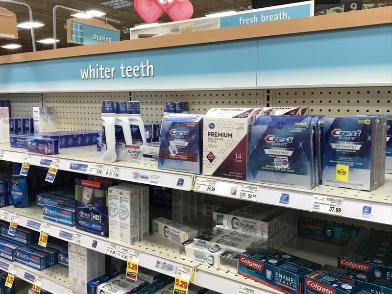Продукты для отбеливания зубов в США