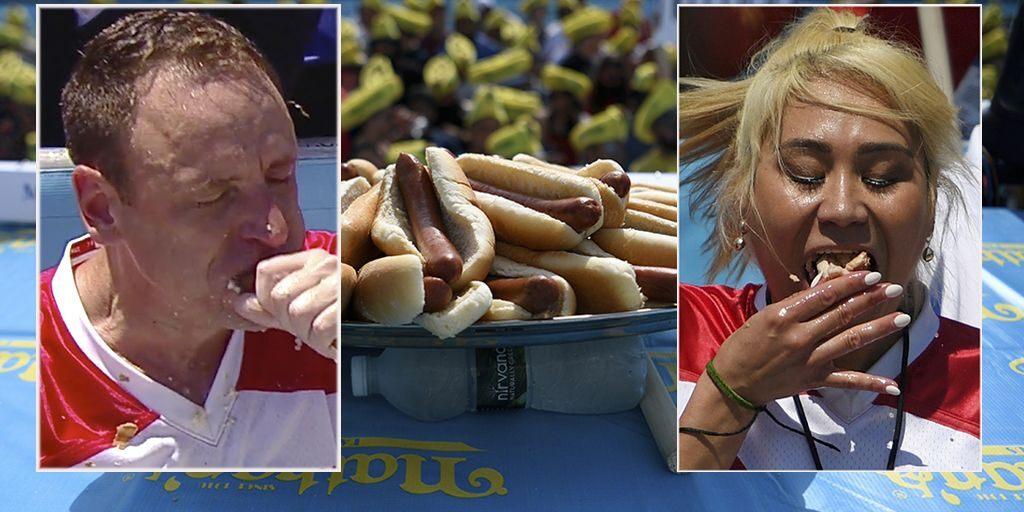 Джоуи Честнат выиграл чемпионат по поеданию хот-догов в 12 раз