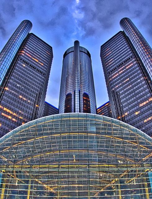 Небоскребы в Детройте