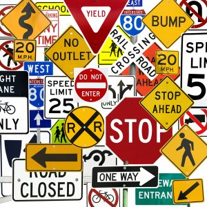 американские дорожные знаки