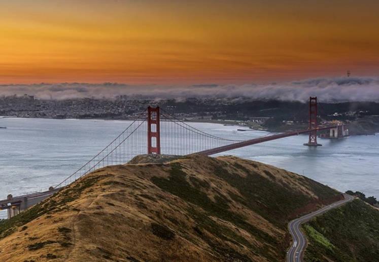 Туман в Сан-Франциско - мост Золотые Ворота