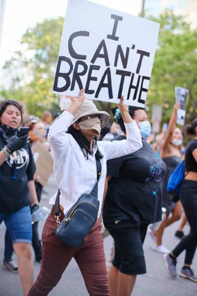 """""""Я не могу дышать"""" - протесты в США после убийства полицейскими чернокожего американца Джорджа Флойда"""
